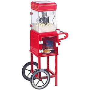 Rosenstein & Söhne Popcornmaschine Cinema: Profi-Popcorn-MaschineCinema mit Rollwagen im Retro-Design (Popcorn-Selbermachen)