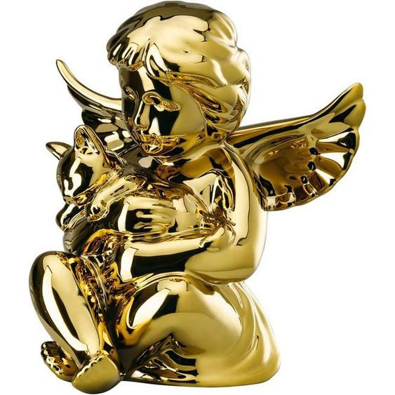 Rosenthal Engelfigur »Engel mit Katze« (1 Stück), Biskuitporzellan, goldfarben