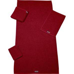 ROSS Gästehandtuch Selection, (6 St.), mit Velourslabel B/L: 30 cm x 50 St.) rot Gästehandtücher Handtücher Badetücher