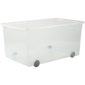 Rotho Aufbewahrungsbox mit Rollen ¦ transparent/klar ¦ Kunststoff ¦ Maße (cm): B: 40 H: 33,5 Aufbewahrung  Aufbewahrungsboxen  sonstige Aufbewahrungsmittel - Höffner