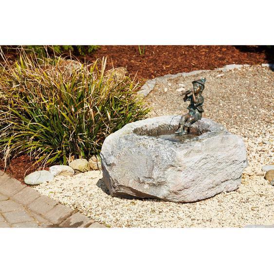 Rottenecker Granittrog Brunnen mit Bronze-Figur Antonio