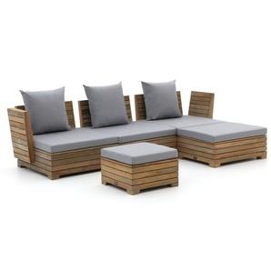 ROUGH-B Chaiselongue Lounge-Set 5-teilig