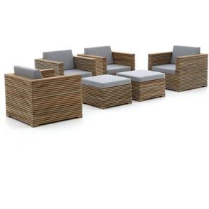 ROUGH-C Sessel Lounge-Set 6-teilig
