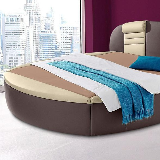 Rundbett, H2, braun, Westfalia Schlafkomfort mit Bettkasten