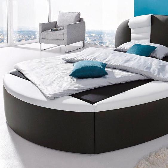 Rundbett, H2, schwarz, Westfalia Schlafkomfort, mit Bettkasten