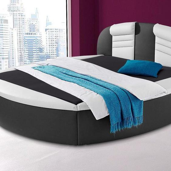 Rundbett, H2, schwarz, Westfalia Schlafkomfort mit Bettkasten