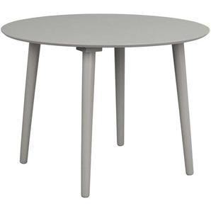Runder Esstisch aus Massivholz hell Grau