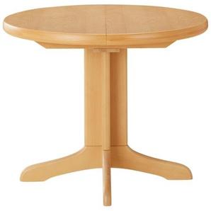 Runder Säulentisch ausziehbar  Cristal ¦ holzfarben Ø: 85