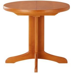 Runder Säulentisch ausziehbar  Cristal ¦ holzfarben Ø: 95