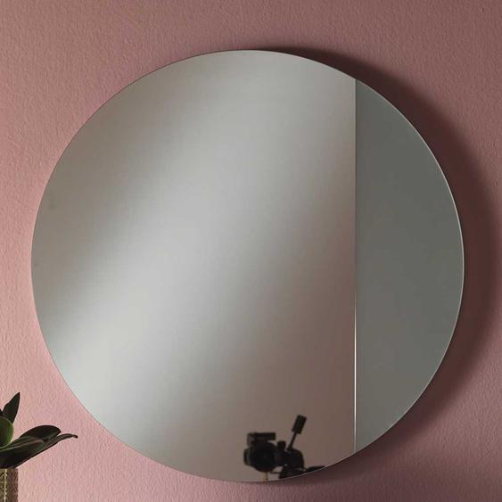 Runder Spiegel in Silberfarben 80 cm breit