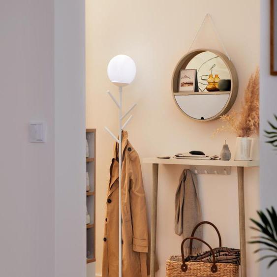 Runder Spiegel mit Seil - schwarz - 100% Baumwolle -
