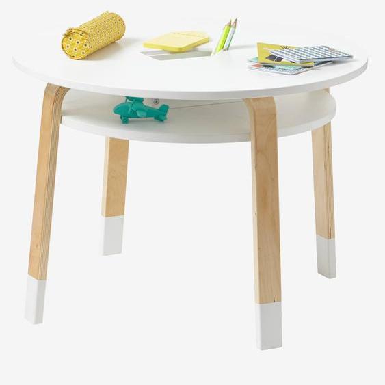 Runder Spieltisch Color weiß/natur