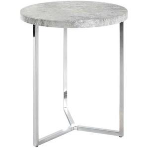 Runder Tisch in Beton Grau modern
