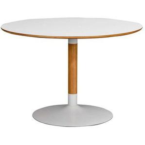 Runder Tisch in Wei� und Eiche modern