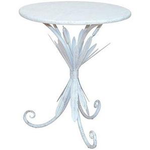 Rundes Tischchen in Weiß Metall