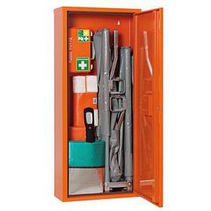 SÖHNGEN Medizinschrank Erste Hilfe Trage DIN 13157 + branchenbezogene Zusatzerweiterung orange