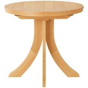 Säulentisch ausziehbar  T52 ¦ holzfarben Ø: 80