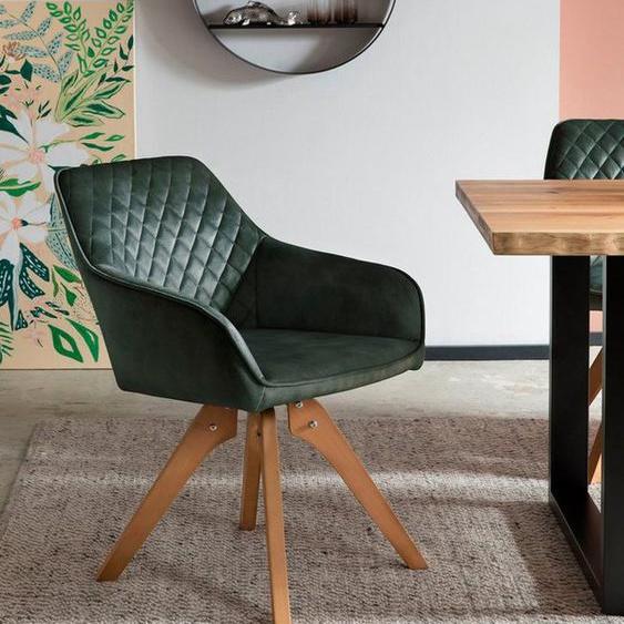SalesFever Armlehnstuhl (1 Stück), 180° Drehplatte unter der Sitzfläche