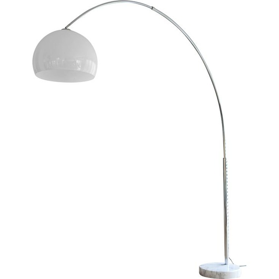 SalesFever Bogenlampe 399453, E27, 1 St., Höhenverstellbar und mit Dimmschalter, echter Marmorfuß flg., Ø 40 cm Höhe: 206 farblos Bogenlampen Stehleuchten Lampen Leuchten