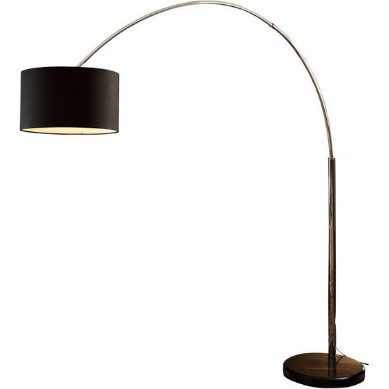 SalesFever Bogenlampe Aija, E27, 1 St., Mit Dimmschalter flg., Ø 35 cm Höhe: 210 schwarz Bogenlampen Stehleuchten Lampen Leuchten