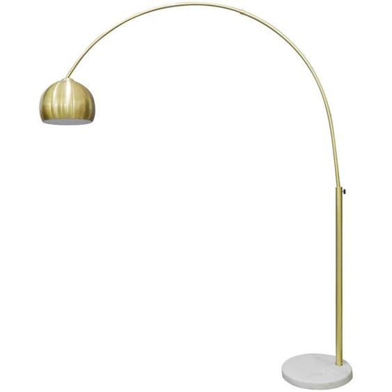 SalesFever Bogenlampe Clara, E27, Fuß aus Marmor 1 flg., Ø 30 cm Höhe: 181 goldfarben Bogenlampen Stehleuchten Lampen Leuchten