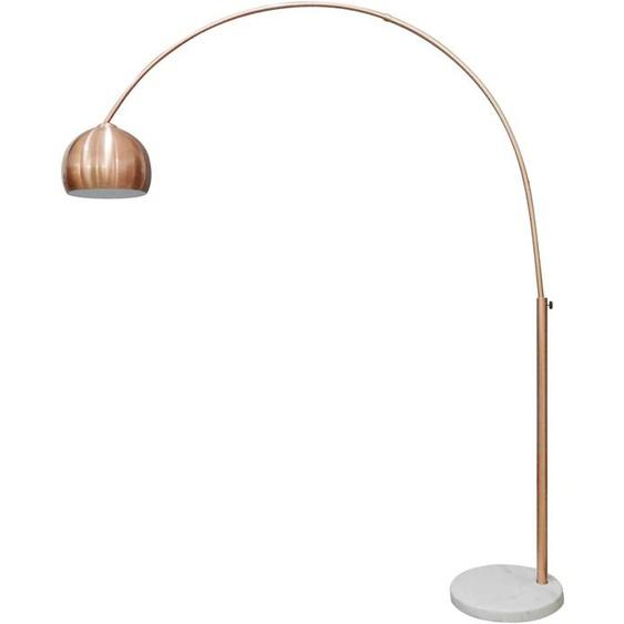 SalesFever Bogenlampe Clara, E27, Fuß aus Marmor 1 flg., Ø 30 cm Höhe: 181 rosegold Bogenlampen Stehleuchten Lampen Leuchten