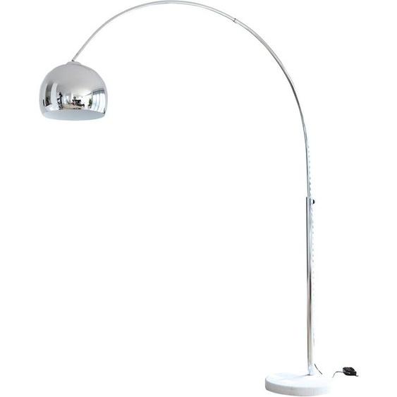 SalesFever Bogenlampe Finn, E27, 1 St., Höhenverstellbar und mit Dimmschalter flg., Ø 30 cm Höhe: 181 silberfarben Bogenlampen Stehleuchten Lampen Leuchten