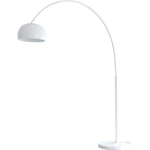 SalesFever Bogenlampe Frieso, E27, 1 St., Dimmschalter, echter Marmorfuß flg., Ø 33 cm Höhe: 195 cm, St. weiß Bogenlampen Stehleuchten Lampen Leuchten
