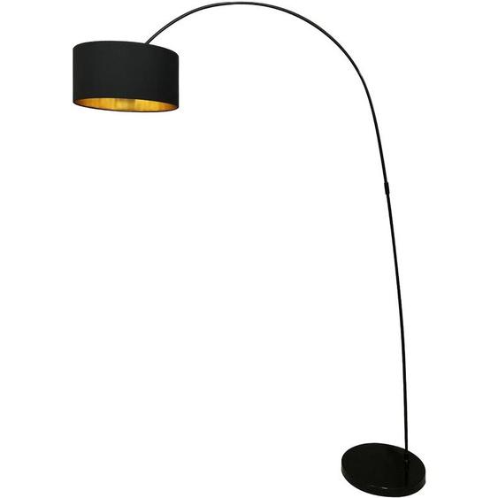 SalesFever Bogenlampe Luca, E27 1 flg., Ø 40 cm Höhe: 201 schwarz Bogenlampen Stehleuchten Lampen Leuchten