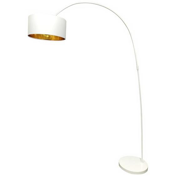 SalesFever Bogenlampe Luca, E27 1 flg., Ø 40 cm Höhe: 201 weiß Bogenlampen Stehleuchten Lampen Leuchten
