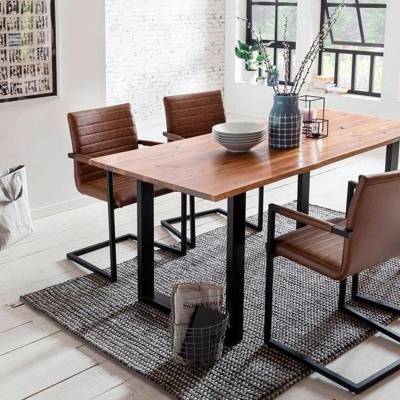 SalesFever Essgruppe, (Set, 5-tlg), bestehend aus 4 Armlehnstühlen und einem 180 cm breitem Tisch