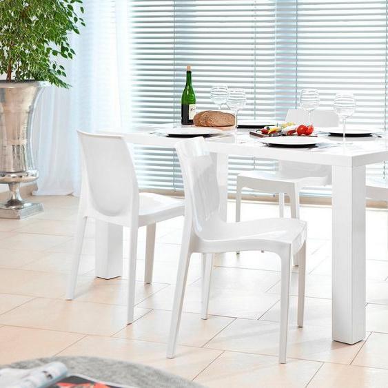 SalesFever Essgruppe, (Set, 5-tlg), bestehend aus 4 modernen Kunststoffstühlen und einem 160 cm breitem Tisch