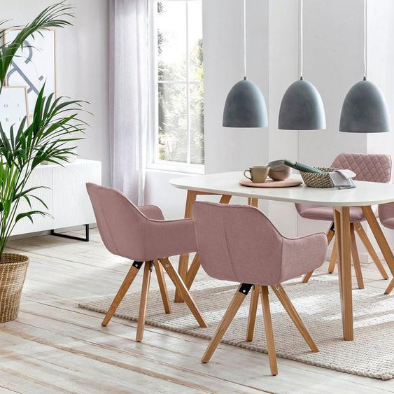 SalesFever Essgruppe, (Set, 5-tlg), bestehend aus 4 modernen Polsterstühlen und einem 160 cm breiten Tisch