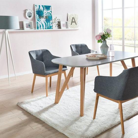 SalesFever Essgruppe, (Set, 5-tlg), bestehend aus 4 modernen Polsterstühlen und einem 180 cm breitem Tisch