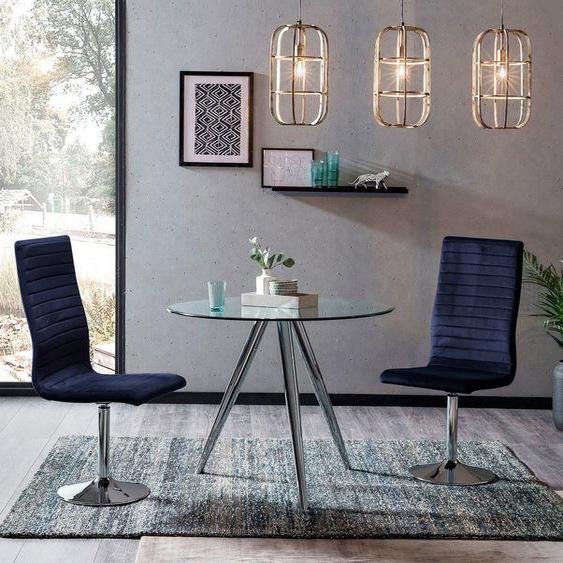 SalesFever Essgruppe, (Set, 5-tlg), mit Glastisch und Drehstühlen