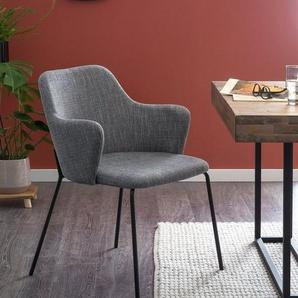 SalesFever Esszimmerstuhl (Set, 2 Stück), bequemer Armlehnstuhl, Polsterstuhl