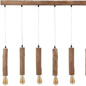 SalesFever Hängeleuchte »Lilly«, Baumstammartige Schirme aus Eukalyptus Holz