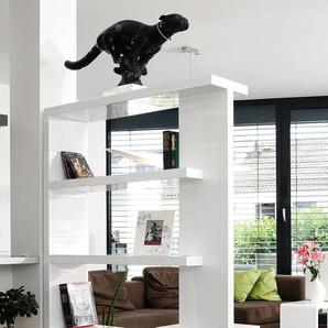 SalesFever Raumteilerregal B/H/T: 128 cm x 180 30 cm, 4 weiß Raumteiler Büroregale Büromöbel