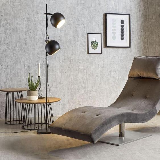 SalesFever Relaxsessel Samtvelours, B/H/T: 60 cm x 83 200 grau Relaxliegen Sessel