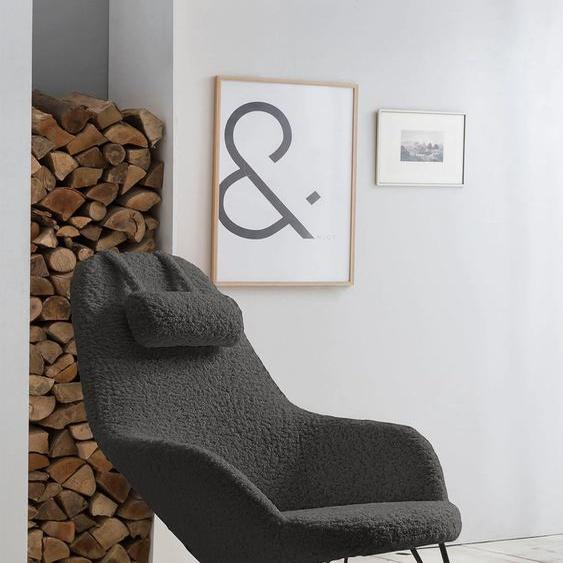 SalesFever Schaukelsessel Polyester grau Weitere Sessel Wohnzimmer