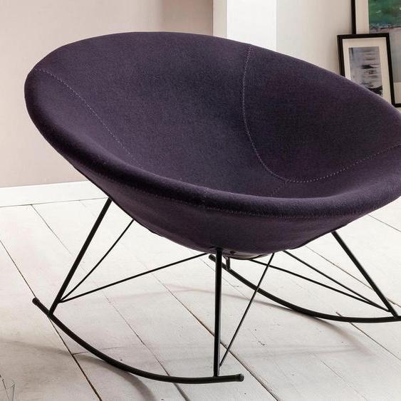 SalesFever Schaukelsessel Stoff / Polyester grau Weitere Sessel Wohnzimmer