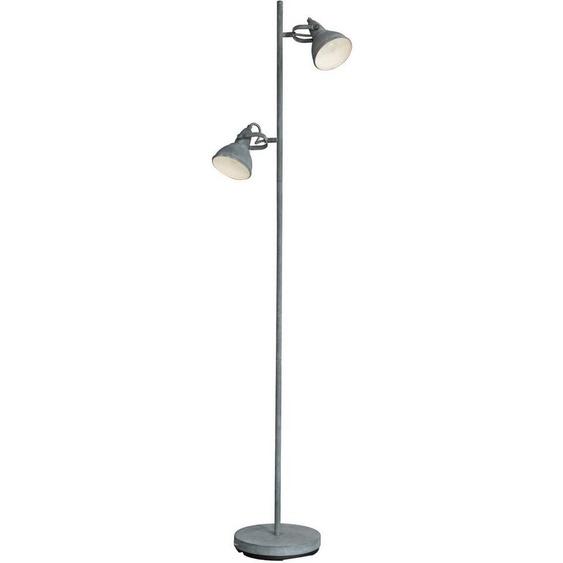 SalesFever Stehlampe »Lucia«, Schirme aus Metall in Beton-Optik