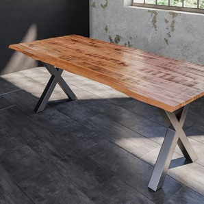 SAM® Esstisch »Edessa«, Mango Massivholz naturfarben natürliche Baumkante