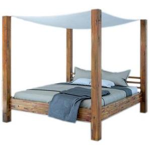 SAM® Himmelbett »Johanna«, Balkenbett aus massiver Akazie 140 cm