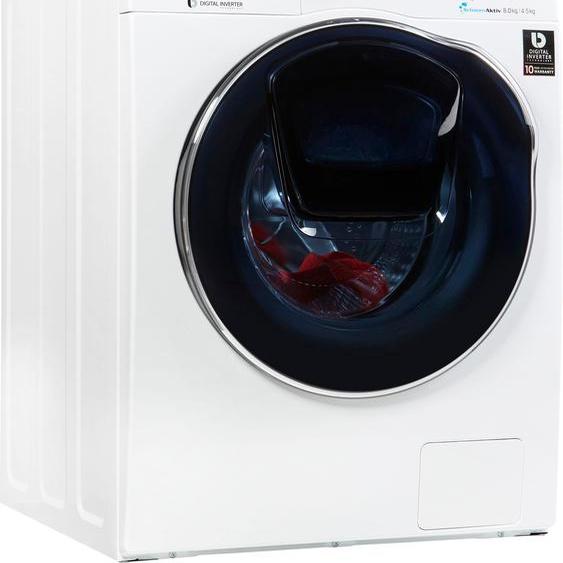 Samsung  Wäschetrockner AddWash WD5500 WD8EK5A00OW/EG, 8 kg, 4,5 kg 1400 U/min, 4 Jahre Garantie, Energieeffizienz: A