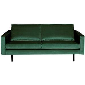 Samt Couch im Retrostil Grün