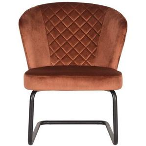 Samt Sessel mit Wippfunktion Retrostil