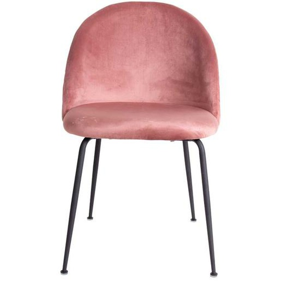 Samt Stühle in Rosa Retro Design (2er Set)