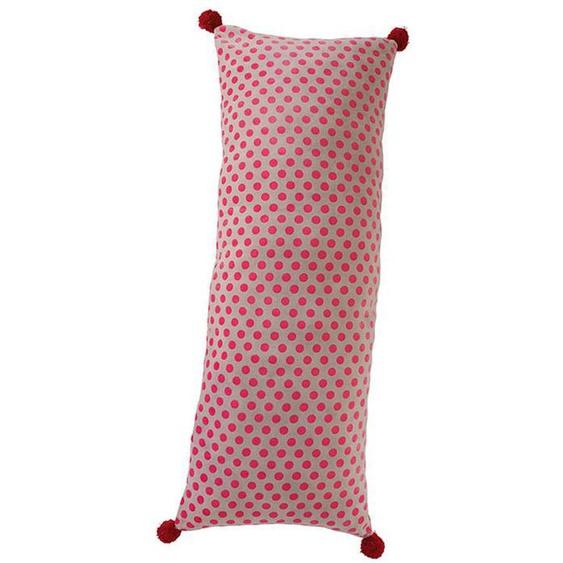 Samtkissen lustige Punkte - bunt - Stoff 100 % Baumwollsamt, Polyesterfüllung - Zierkissen & Polsterrollen  Zierkissen