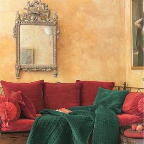 Samtquilt grün - bunt - 100 % Baumwolle - Tagesdecken & Quilts - Überwürfe & Sofaüberwürfe